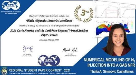 Estudiante UPSA gana tercer lugaren el Regional Student Paper Contest