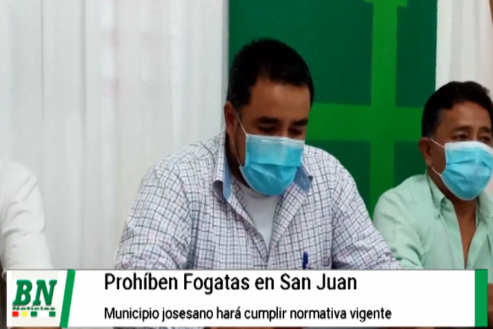 En San José de Chiquitos prohíben fogatas en San Juan y realizarán control