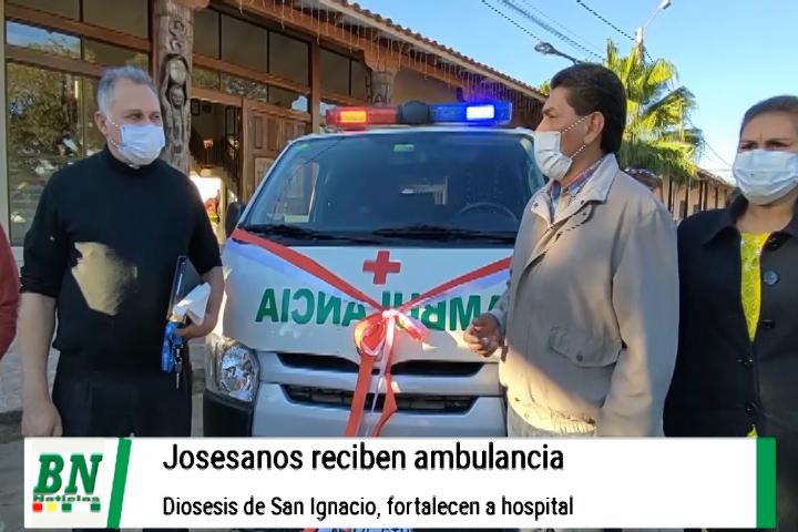 Municipio de San José de Chiquitos recibe ambulancia equipada de la arquidiócesis de San Ignacio