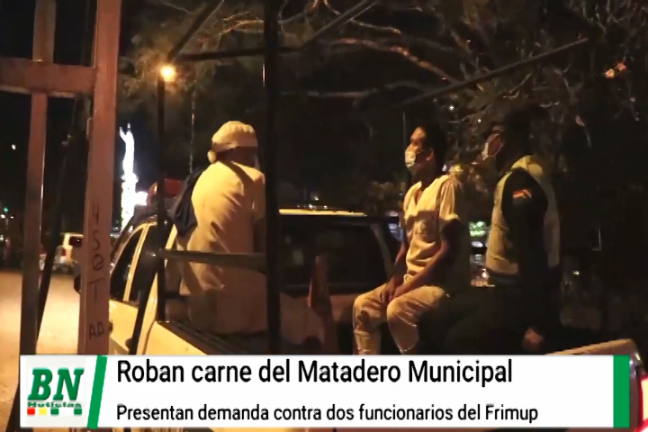 Carne del Frimup fue robada y municipio demanda a dos funcionarios encontrados con producto