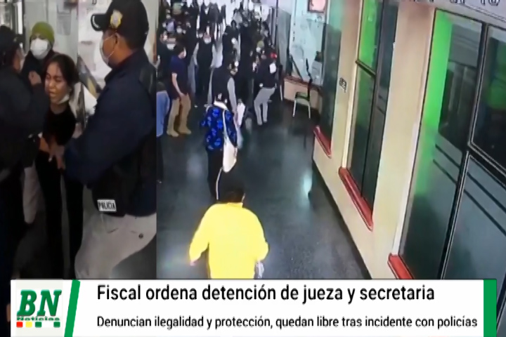 Jueza y su secretaria fueron detenidas por orden de fiscal sin  presentar requerimiento, denuncian que armaron caso