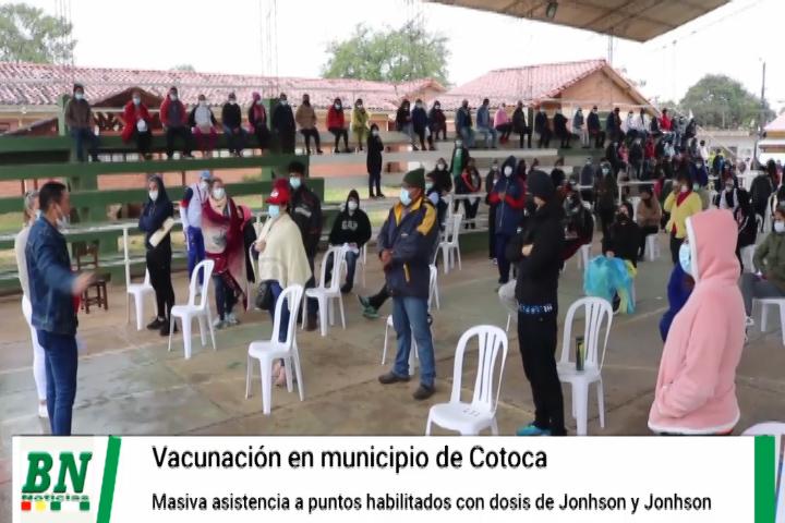 En Cotoca vacunan con dosis Jonhson y Jonhson y llaman a la población a asistir