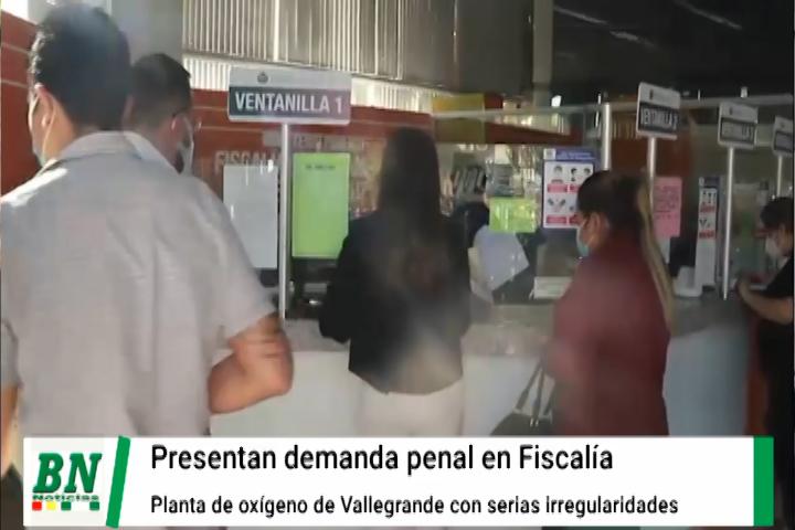 Observan irregularidades en la compra de planta de oxígeno instalada en Vallegrande y presentan demanda