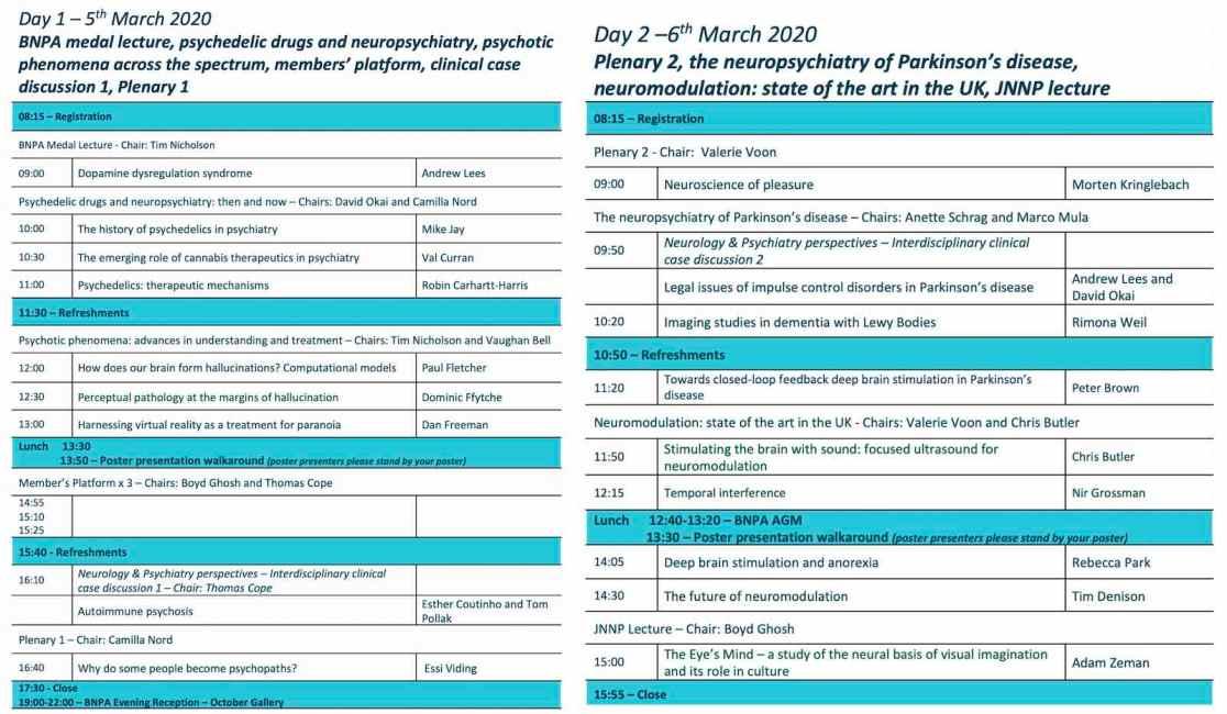 BNPA Annual Meeting 2020 Agenda