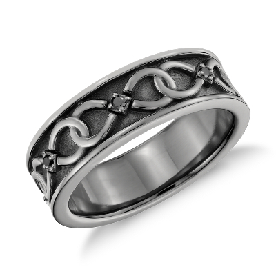 Colin Cowie Black Diamond Infinity Wedding Ring In