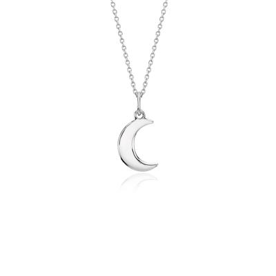 Mini Moon Pendant In Sterling Silver Blue Nile