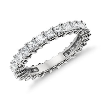 Princess Cut Diamond Eternity Ring In Platinum 2 Ct Tw