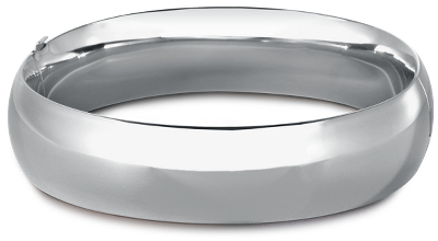 Wide Rounded Bangle Bracelet In Sterling Silver Blue Nile