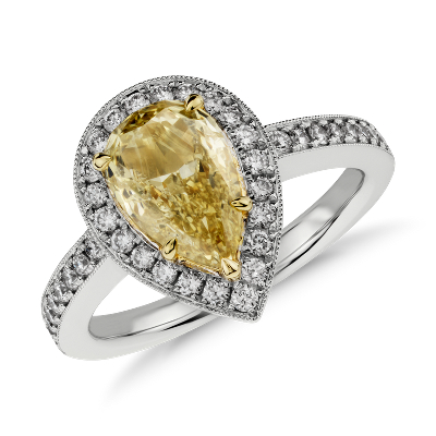 Ring Diamond Carat Shaped Hand Pear 2