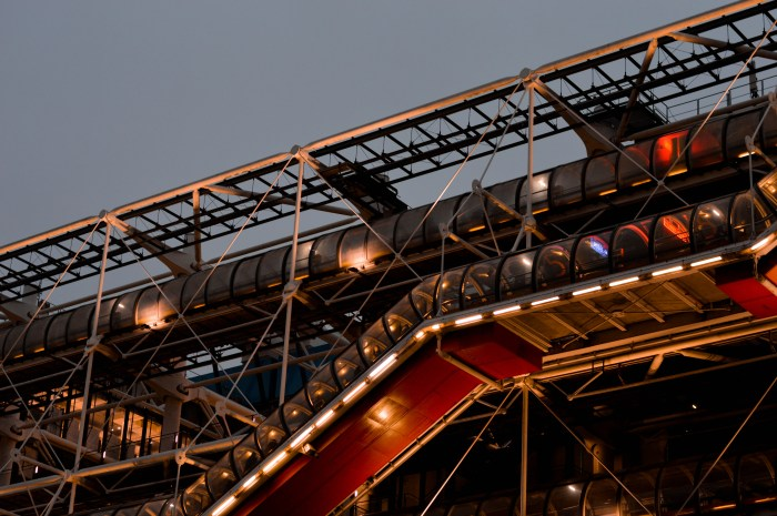 georges pompidou night