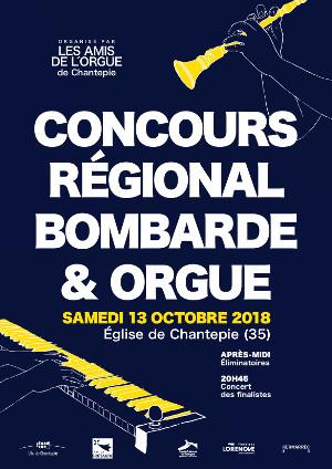 Affiche du Concours Régional Bombarde & Orgue 2018