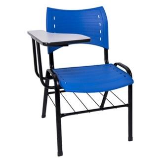 Cadeira Universitária com Prancheta e Porta Livros CAMPOS