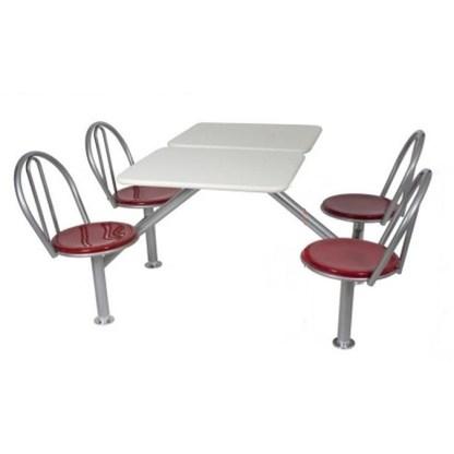 Mesa de Lanchonete com Cadeiras RIO AZUL