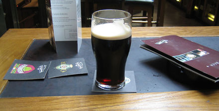 A pint of porter at the Porterhouse (photo by 1gl, from Flickr Creative Commons)