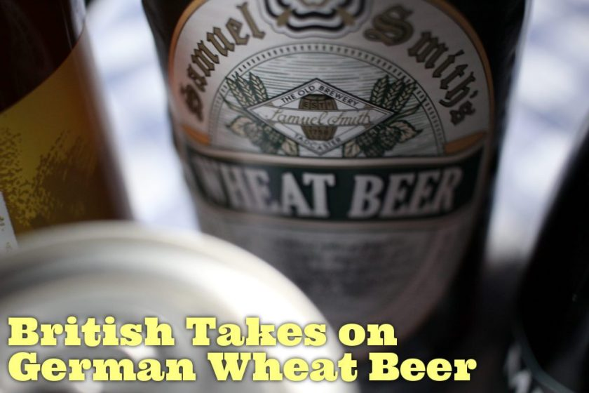Samuel Smith's wheat beer label.