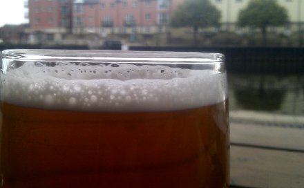 A pint of Exeter Brewery 'fraid Not at the Waterfront pub