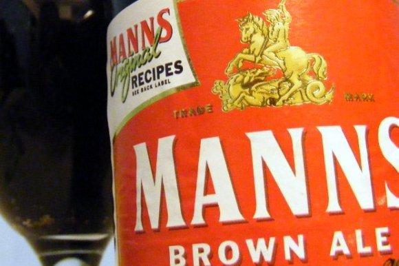 Mann's Brown Ale beer bottle.