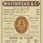 Advertisement for Whitbread bottled beer, 1888.