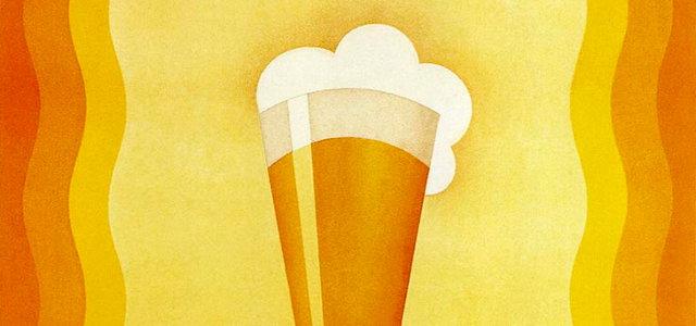 Art Deco beer glass.