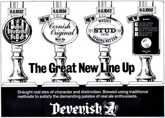 Devenish beer range relaunched, 1986.