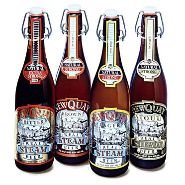 Newquay Steam beer bottles.