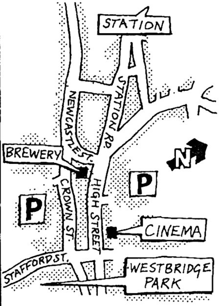 Route of CAMRA march in Stone, Staffs, 3 November, 1973.