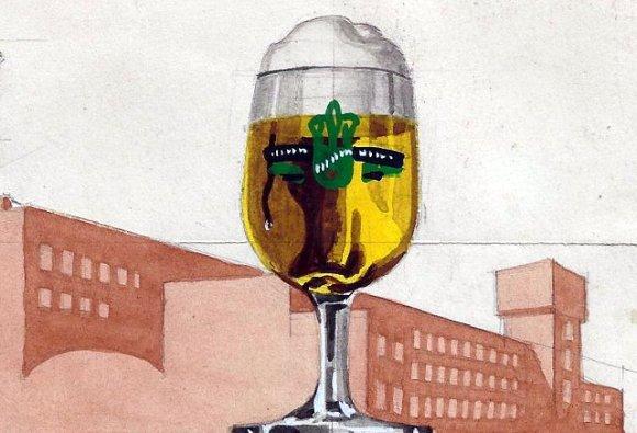 Vintage Rhenania Beer Advertisement.