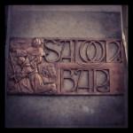 The Black Friar, City of London, 'Saloon Bar' sign.