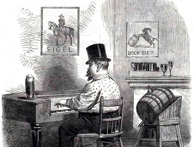 Lager beer saloon, 1864.