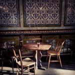 The Ten Bells, Whitechapel, decorative tiles and seating.