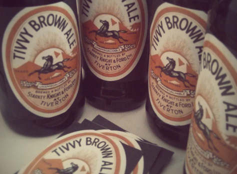 Home brewed brown ale.