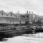 Guinness Brewery: Loading Wharf on the River Liffey.
