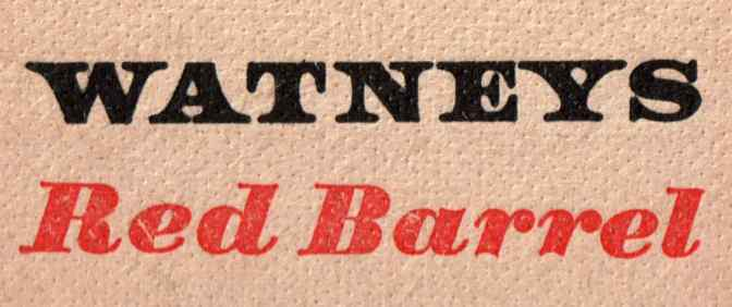 Watney's Red Barrel beer mat (detail).