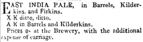 AK mentioned in an advertisement, 1846.
