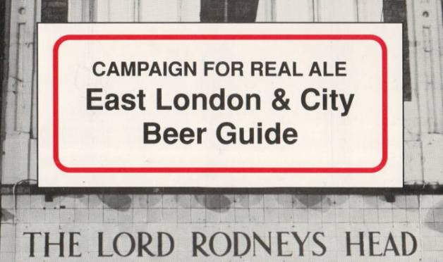 Detail from the cover of the East London & City Beer Guide, 1991.