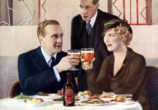 Detail from an advertisement for Whitbread Pale Ale from 1934.