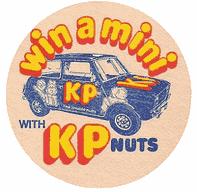 KP Nuts beer mat, 1970s.