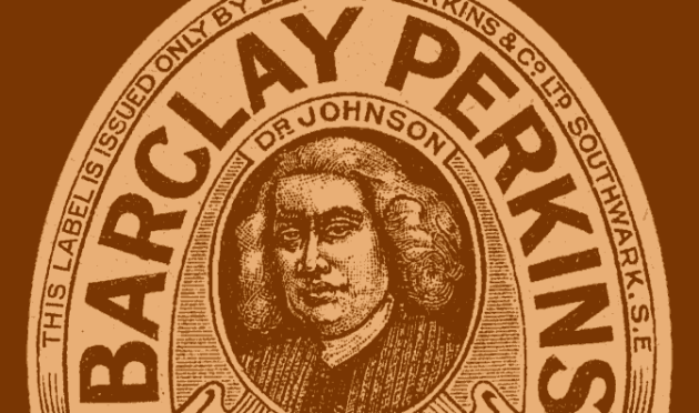 Detail from a Barclay Perkins label.