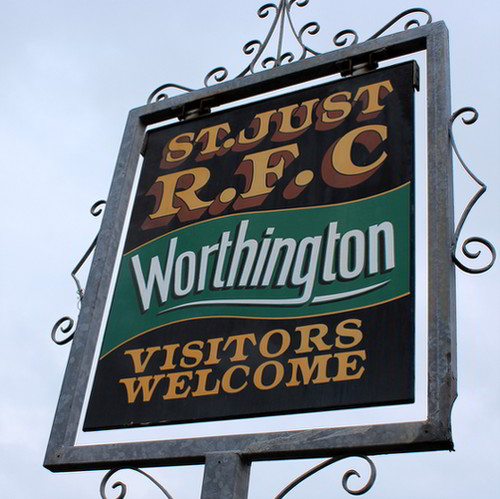 Sign for the rugby club mentioning Worthington's.
