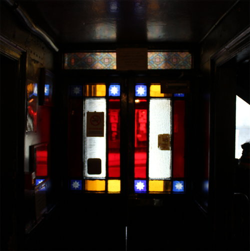 Stained glass at the Star Inn.