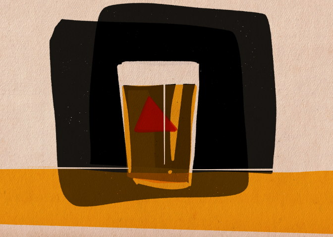 A clear pint of Bass pale ale.