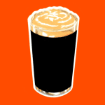 A pint of stout (illustration).