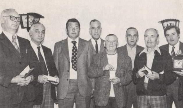 Watney's brewery staff, 1977.