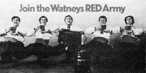 Watneys Red Army poster c.1972.