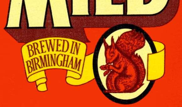 "Detail from Ansell's beer mat, 1970s: ""Brewed in Birmingham""."