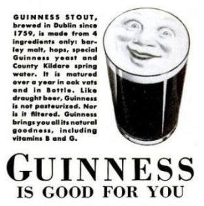 Guinness smile advert, 1939.