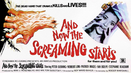 Film poster: 'And Now The Screaming Starts', 1973.
