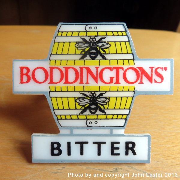 Boddington's pump clip from the 1960s.