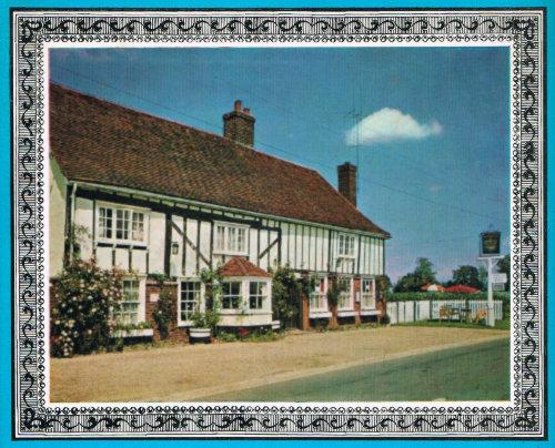 Country pub against a blue sky.