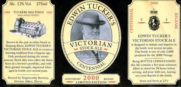 Edwin Tucker Stock Ale 2000 vintage label.